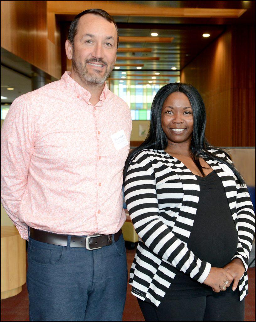 Professor Bryan Ingham posing with student Demetrice Garcia