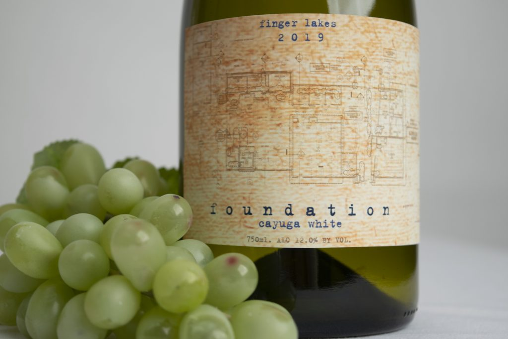 Image shows new wine bottle label called Foundation
